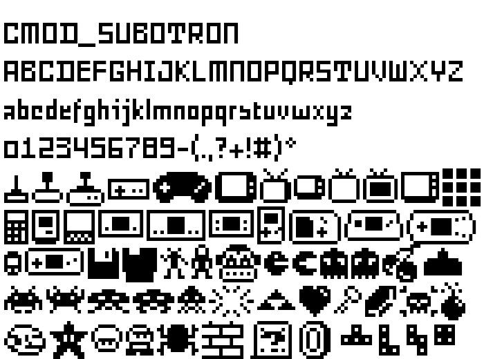 CMOD-SUBOTRON Font von Paul Busk