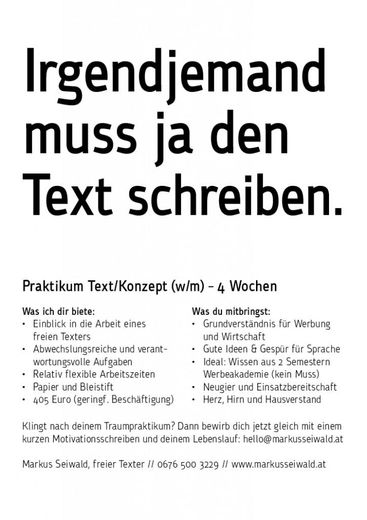 Praktikum Text Konzept Wien 2015